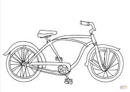Click The Cruiser Bicycle Coloring Pages To View Printable Version Or Color It Online Compatible With IPad And Android Tablets