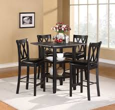5 Piece Counter Height Dining Room Sets by Homelegance Norman 5 Piece Pack Counter Height Set Black 2514bk