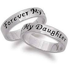 Give A Memorable Gift To Your Daughter With Sterling Silver Ring Jewelry Features An Engraved Message Forever My On Outside Of Band Two Rings