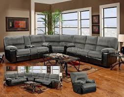 Leather Sectional Living Room Ideas by Living Room Grey Leather Sectional And Brown Wooden Floor Also