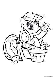 Print My Little Pony Applejack Stand Coloring Pages