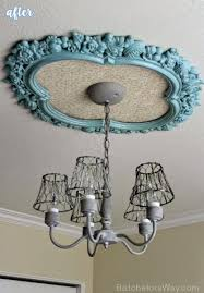 Two Piece Ceiling Medallions Cheap by Upcycle An Old Frame As A Ceiling Medallion Rustic Bedroom