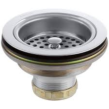 kohler sink strainer brushed nickel duostrainer 4 1 2 in sink strainer in polished chrome k 8799 cp