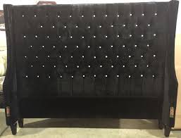 Skyline Button Tufted Headboard by Board Black Velvet Tufted Headboard With Crystal Buttons Awesome