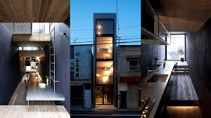100 Narrow House Designs 18m Wide House By YUUA Architects Fits Between Two