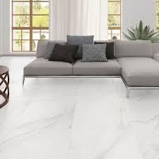 Modern Kitchen White Porcelain Floor Tile Fresh Kitchen With