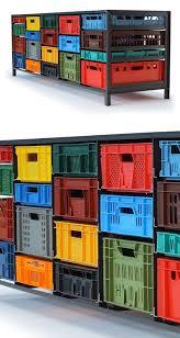 Milk Crate Shelf Organizers