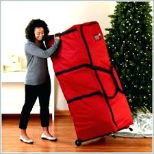Christmas Tree Rolling Storage Bag Upright Elegant Stunning Containers