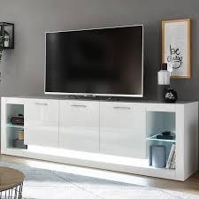 modernes design wohnwand set mit sideboard mailand 61 in hochglanz weiß b h t 398 198 43cm