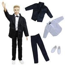 1 Pc Handmade Fashion Clothes For Barbie Doll 3 Color Plaid Skirt