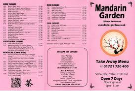 Take Away MANDARIN GARDEN CHINESE RESTAURANT AND TAKE AWAY