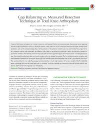 si e orthop ique gap balancing vs measured resection pdf available