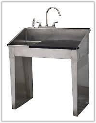 Stainless Steel Utility Sink by Stainless Steel Laundry Sink With Legs Home Design Ideas