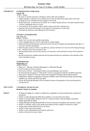 Download Storekeeper Resume Sample As Image File