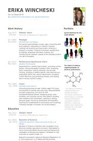 Resume For Dietetic Internship Example Rh Zappingtheweb Tk Dietitian Assistant Template It Samples