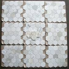 Faux Marble Hexagon Floor Tile by Marble Hex Tile Floor White And Gray Boy Bathroom With Marble