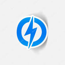Blue Lightning Bolt Sticker Stock Vector C Palau83 101098270