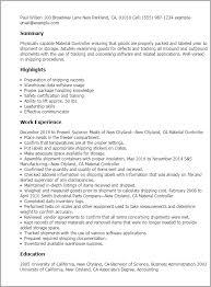 Resume Templates Material Controller