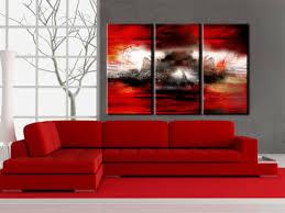 abstrakt rot wandbilder bilder auf vlies leinwand