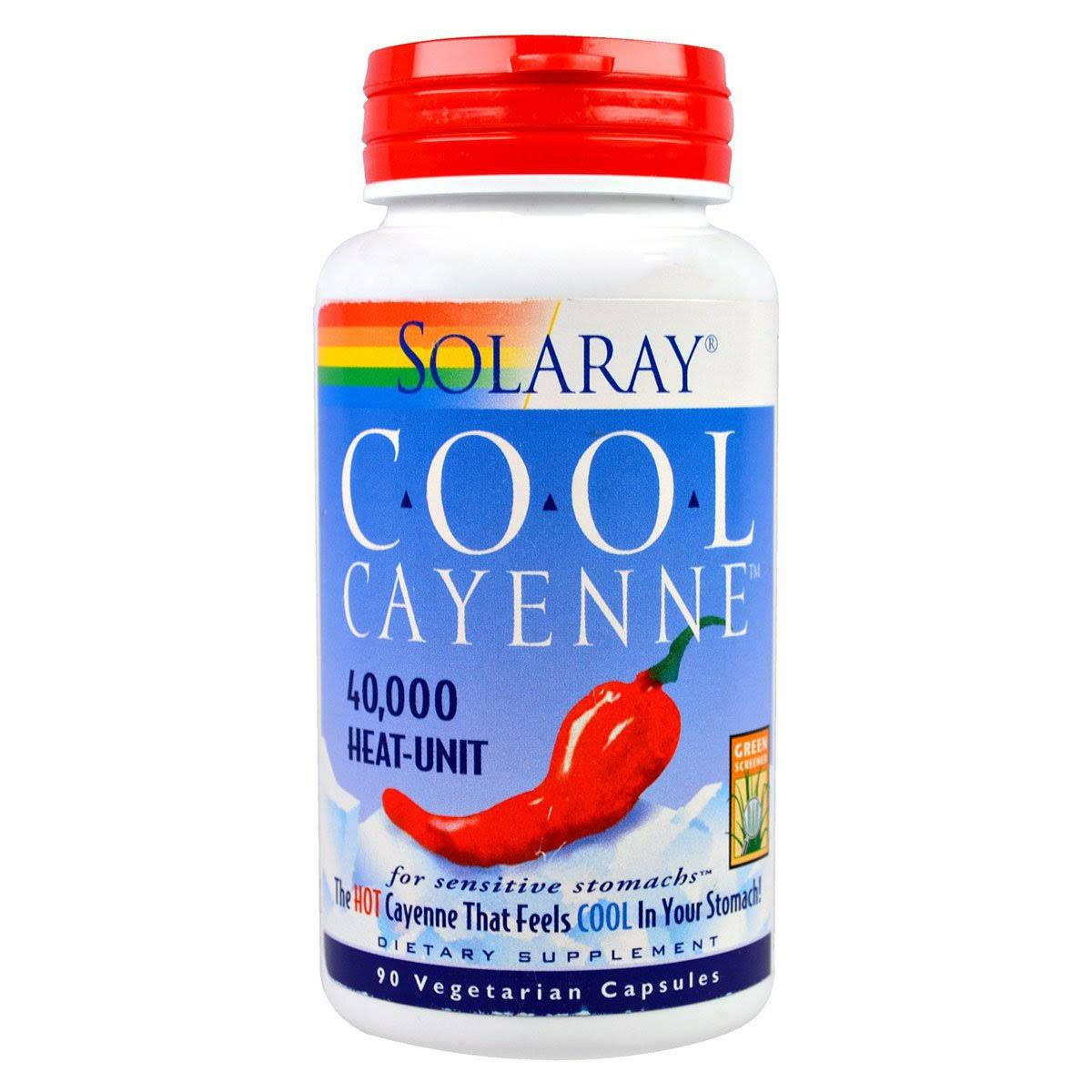 Solaray Cool Cayenne - 600mg, 90 Vegetarian Capsules