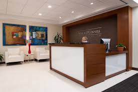 Home Office Reception Desk Designs This Receptionist Design Salon Lighting Image Of Regarding