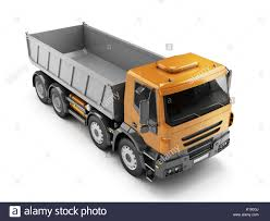 100 Toy Trucking Empty Dump Truck View From Above 3D Illustration Isolated On White