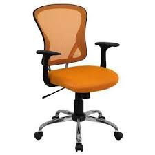 Orange fice Chairs Home fice Furniture The Home Depot