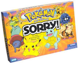 Parker Brothers Pokemon Sorry Board Game