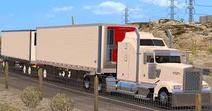 100 Truck Reefer Double Trailer Utility Reefer Mod American Simulator Mod