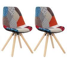 esszimmerstühle 2er set küchenstuhl kunstleder oder leinen mehrfarbig