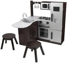 Kidkraft Grand Gourmet Corner Kitchen Play Set by Kidkraft Modern Corner Kitchen W Stools Espresso Amazon Toys