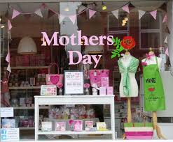 Mothers Day Window Display Bags And More