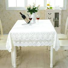 Dining Room Table Cloths Pastoral Style Lace Peony Floral Home Decor Hotel Cloth Round Antique