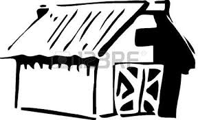 icône de la maison noir et blanc clip libres de droits