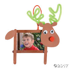 Halloween Warehouse Okc 50th by Craft Stick Reindeer Picture Frame Christmas Ornament Craft Kit