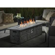 Garden Treasures Patio Furniture Manufacturer by Shop Garden Treasures 72 In W 70 000 Btu Gray Composite Liquid