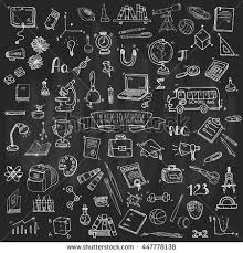 Hand Drawn Doodle Back School Icons Stock Vector Royalty Free