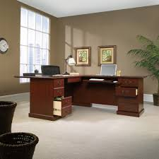 Sauder Shoal Creek Desk Jamocha Wood by Desks Sauder 402159 Heritage Hill Executive Desk Classic Cherry