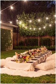 Backyards : Gorgeous 25 Best Ideas About Backyard Party Lighting ... Outdoor And Patio Build A Stunning Backyard Wedding Decorations Jess Eds Boho Noubacomau Hire A Kids Cubby House Play Space For Your Wedding Or Event Love Was In The Air At This Dreamy Bohemian Chic Gathering Events Offers Charming Renovated Mobile Vintage Backyardwedding