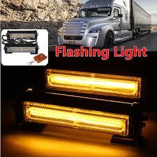 100 Truck Strobe Lights Pair Amber COB LED Car Off Road Vehicle ATVs Emergency Warning