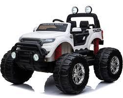 100 Truck Rims 4x4 MotoTec Monster Ride On 12v 24ghz RC White Parental Control