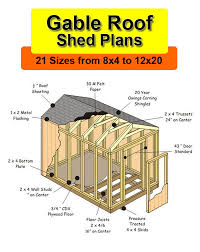 8x12 Storage Shed Blueprints by 17 Free Shed Plans 8x12 Gable Amish Sheds 8 X 12 Download
