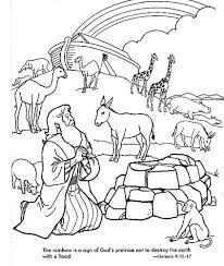 Noah Praying After The Great Flood Rainbow Gods Eternal Sign Bible Coloring PagesColoring
