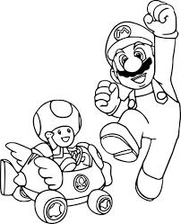 Coloriage Mario Et Toad à Imprimer