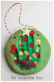 Christmas Tree Names Ideas by Salt Dough Handprint Christmas Tree Ornaments The Imagination Tree