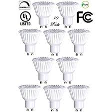 10 pack bioluz led gu10 led bulbs 50w halogen equivalent dimmable