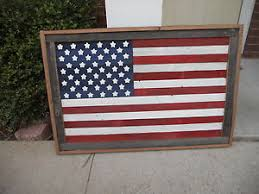 Image Is Loading Large Rustic Wood American Flag Wall Hanging Art
