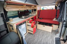 Camper Van Interior Maximum Storage Conversion