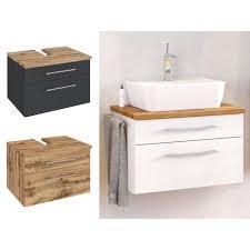 waschbecken unterschrank und badschrank anthrazit