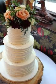 Rustic Winter Wedding Cake At The Crab And Lobster